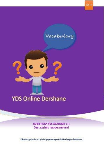 YDS Özel 5000 Kelime Tekrar Defteri-