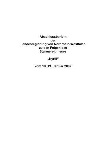 Abschlussbericht der Landesregierung von Nordrhein-Westfalen zu ...