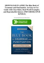 [DOWNLOAD IN @PDF] The Blue Book of Grammar and Punctuation An Easy-to-Use Guide with Clear Rules  R