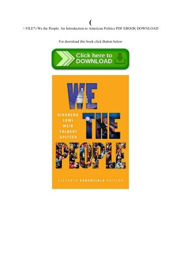 A concise introduction to american politics 5th pdf ebooks by pdf file we the people an introduction to american politics pdf ebook download fandeluxe Choice Image