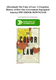 (Download) The Color of Law A Forgotten History of How Our Government Segregated America PDF EBOOK D