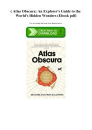 (B.O.O.K.$ Atlas Obscura An Explorer's Guide to the World's Hidden Wonders (Ebook pdf)