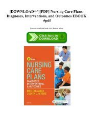 Nursing Care Plans Ebook