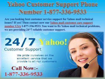 Yahoo Customer 1-877-336-9533 | Support Phone Number