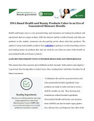 LifeDNA - Skincare Tailored to your Own DNA