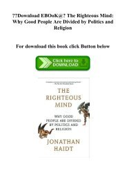 The Righteous Mind Ebook