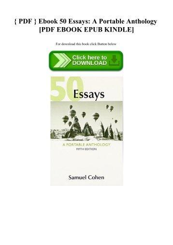 Book title author copies 50 essays a portable anthology pdf ebook 50 essays a portable anthology pdf ebook epub kindle fandeluxe Images