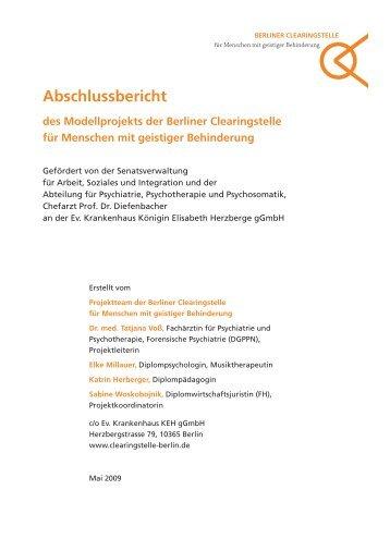 Abschlussbericht des Modellprojekts der Berliner Clearingstelle für ...