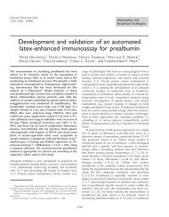 Development and validation of an automated ... - Clinical Chemistry