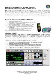 RCA-8200 Version 1.5 für Microsoft Windows™