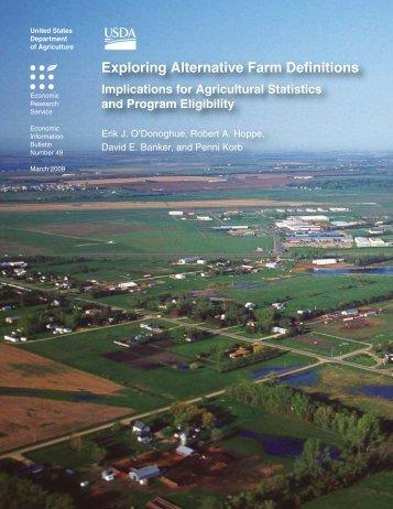 Exploring Alternative Farm Definitions - Economic Research Service ...