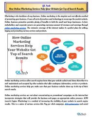 How Online Marketing Services Help Your Website Get Top of Search Results