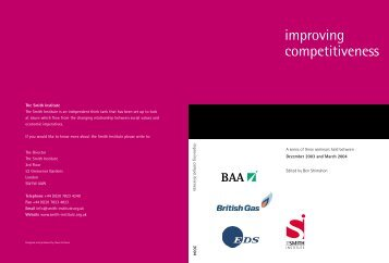 improving competitiveness - Institute for Strategy and ...