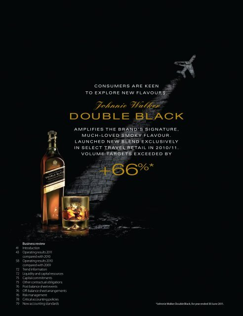 Business review PDF (2035KB) - Diageo Annual Report 2011