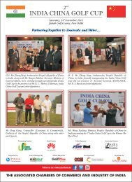 INDIA CHINA GOLF CUP - The Associated Chambers of Commerce ...