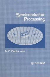 Semiconductor Processing - ASTM International