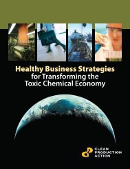 Healthy Business Strategies - Clean Production Action