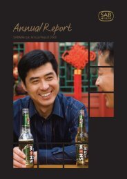 Annual Report 2008 in PDF - SABMiller