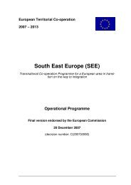 South East Europe (SEE) - Infocooperare