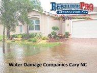 Water Damage Companies Cary North Carolina