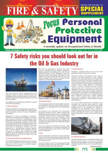 Focus Personal Protective Equipment September 2018