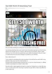 Get £500 Worth Of Advertising Free
