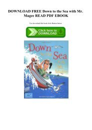 DOWNLOAD FREE Down to the Sea with Mr. Magee READ PDF EBOOK
