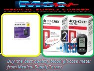 Buy the best quality  blood glucose meter from Medical Supply Corner