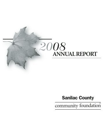 2008 - Sanilac County Community Foundation
