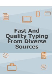 Fast and Quality Typing from Diverse Sources