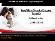 1-800-383-368  Perfect Solution Trend Micro Antivirus Support Helpline