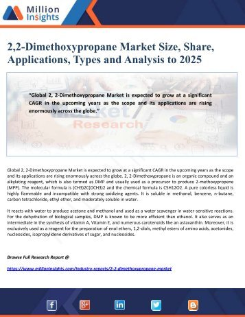 2,2-Dimethoxypropane Market Size, Share, Applications, Types and Analysis to 2025