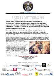 Pressemitteilung Barber Angels in Braunschweig am 16. September 2018
