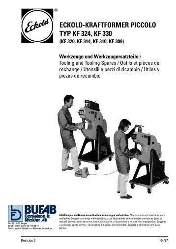 ECKOLD-KRAFTFORMER PICCOLO TYP KF 324, KF 330 - Bufab