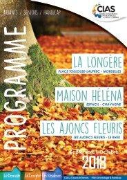 Programme de La Longère Septembre / Octobre 2018