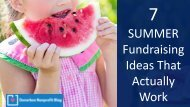 7 SUMMER Fundraising Ideas That Actually Work