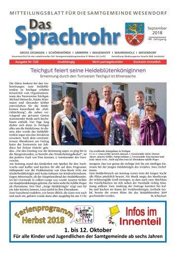Sprachrohr September 2018