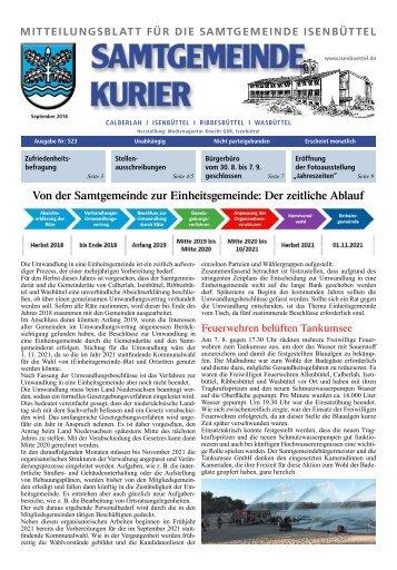 Kurier Isenbüttel September 2018