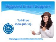 Deal With Bigpond Errors Via Expert's Email Support | Number 1-800-980-183