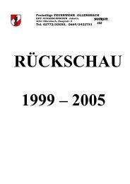 Feuerwehr Ollersbach Rückschau 1999 bis 2005