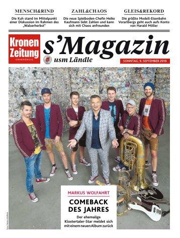 s'Magazin usm Ländle, 9. September 2018