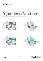 Digital Urban Simulation : Documentation of the Teaching Results from the Spring Semester 2018