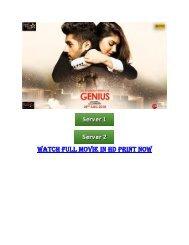 Genius Hindi (2018) Full Movie Torrent Download 720p