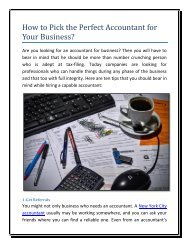 How to Pick the Perfect Accountant for Your Business