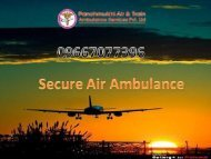 Fast Light Jets Air Ambulance Service in Nagpur with MBBS Doctor