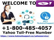 Yahoo Toll Free Number+1800-485-4057 Yahoo Tech Support
