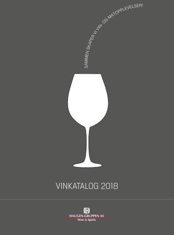 Haugen-Gruppen Wine & Spirits - Vinkatalog 2018