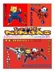 Little Ninjas Information brochure single layout 2