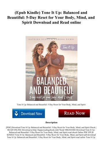 (Epub Kindle) Tone It Up Balanced and Beautiful 5-Day Reset for Your Body  Mind  and Spirit Download and Read online