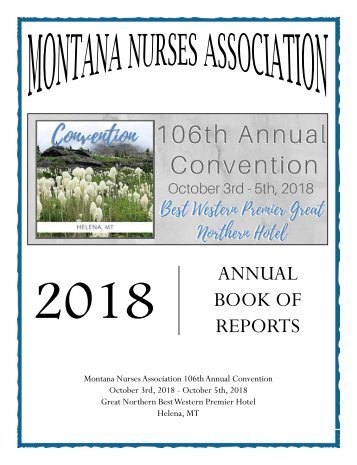Montana Annual Book of Reports 2018 - September 2018